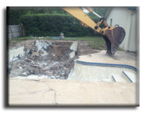 Pool demolition and removal service for a home in Dallas.