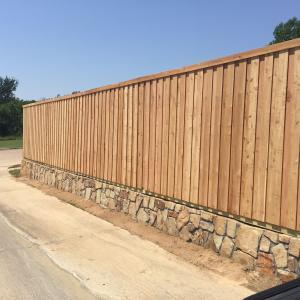 Retaining Wall Fence in Carrollton