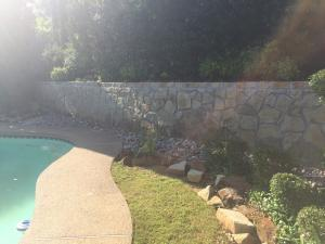 Retaining Wall Pool Example