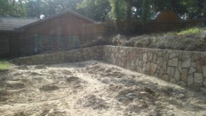 retaining wall construction azle texas 2