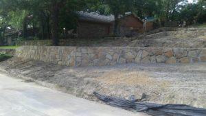 retaining wall construction azle