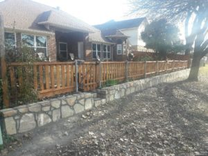 Retaining Wall Fence DFW