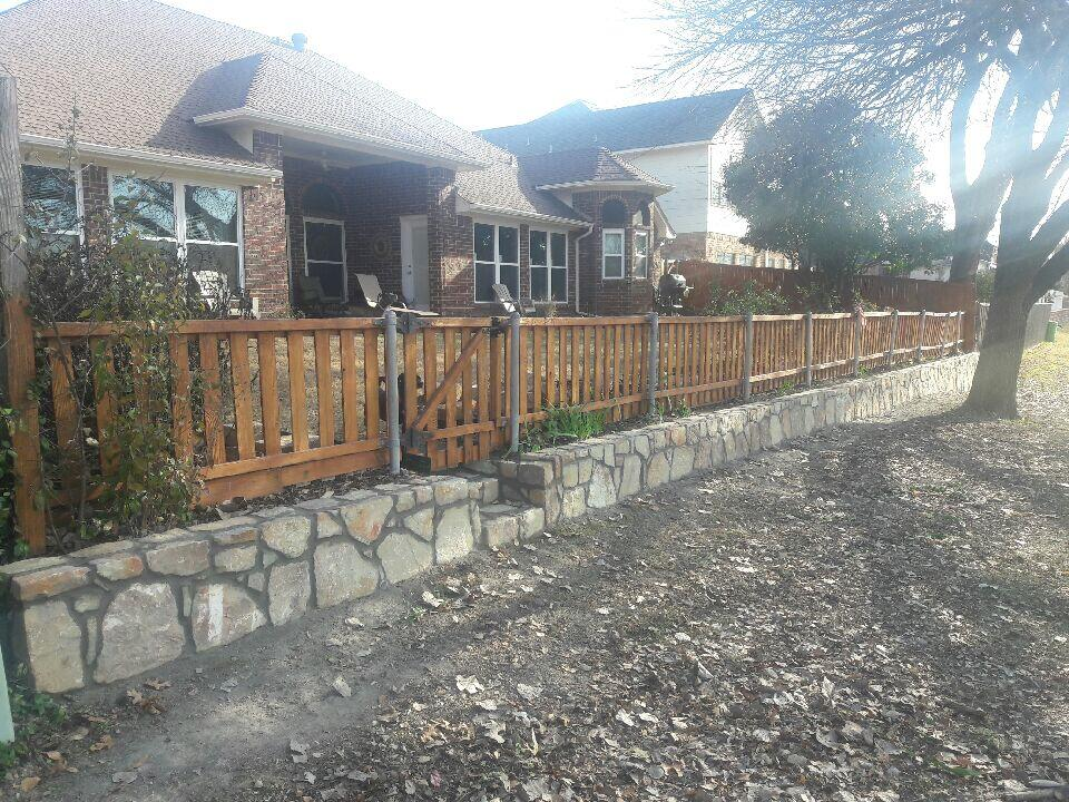 Retaining Wall Fence Dfw Jcl Landscaping Dallas Texas