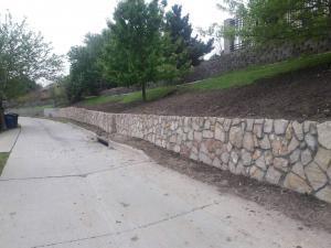 Carrollton Retaining Wall project