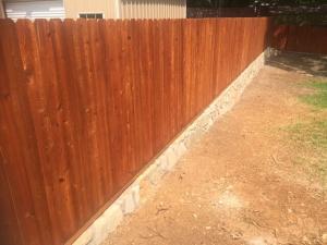 Retaining wall fence 2