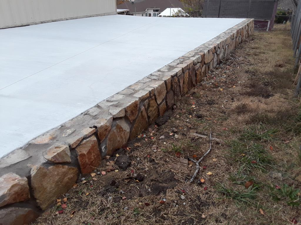 Retaining Wall Driveway Jcl Landscape Service Dallas Texas